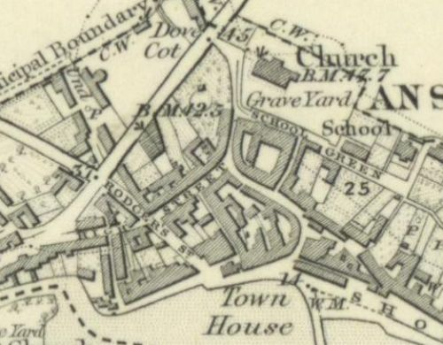 Map of 1854 showing the layout of the Anstruther Brewery