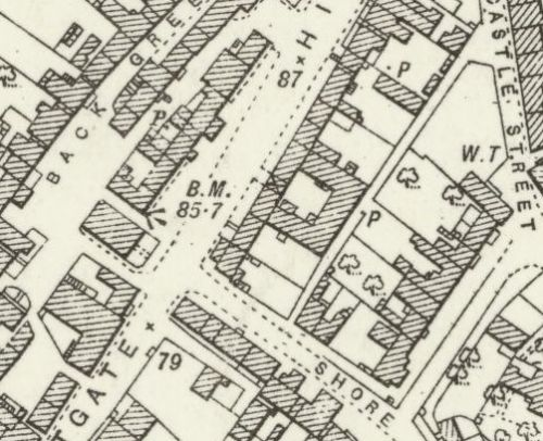 Map of 1893 showing the layout of the Crail Brewery