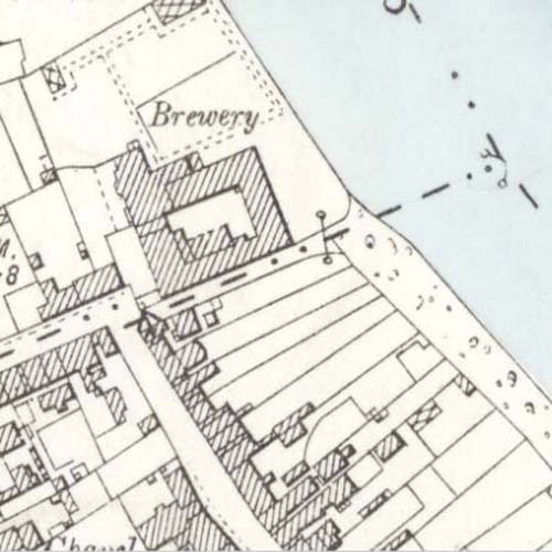 Map of 1895 showing the Ayr Brewery