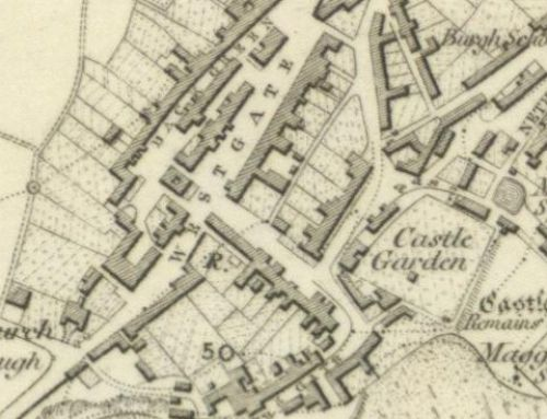 Map of 1854 showing the layout of the Crail Brewery