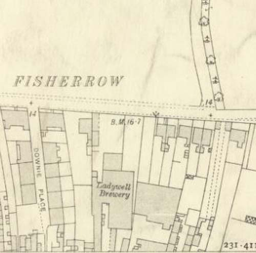 Map of 1912 showing the layout of the Ladywell Brewery