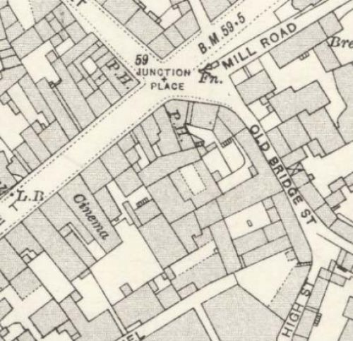 Map of 1920 showing the Thistle Brewery