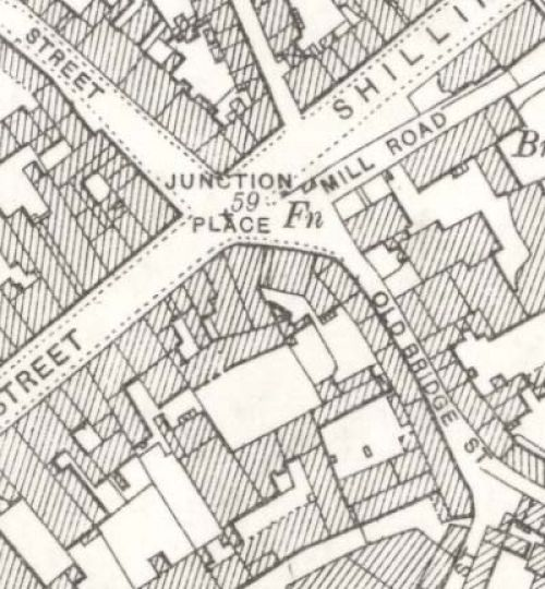 Map of 1899 showing the Thistle Brewery