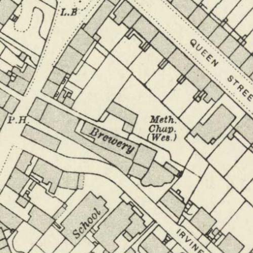 A map of 1913 showing the Stirling Brewery