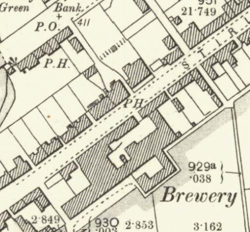 Map of 1899 showing the Blackford Brewery