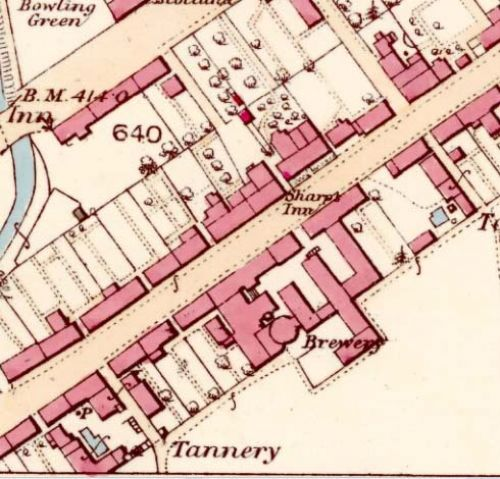 Map of 1863 showing the Blackford Brewery