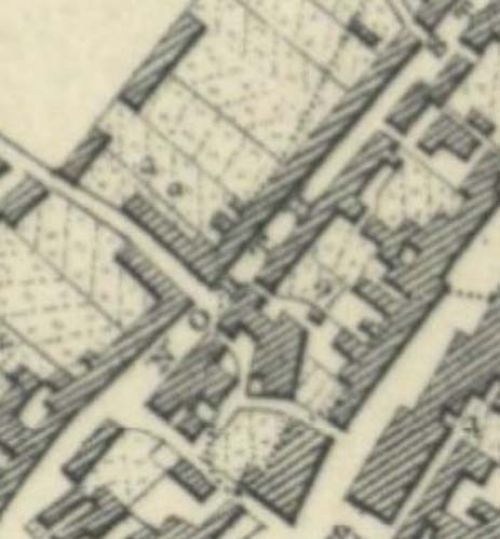 Map of 1854 showing the location of the Leven Brewery