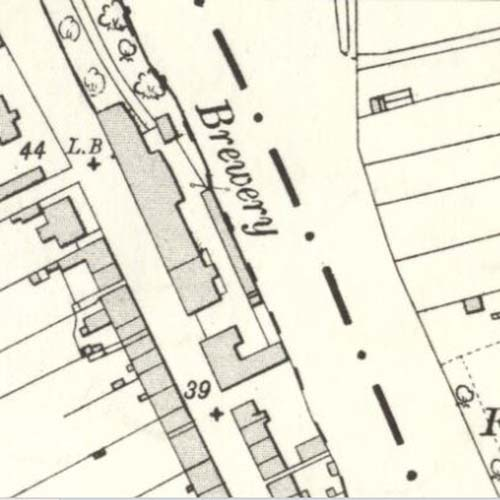 Map of 1894 showing the Newton Stewart Brewery