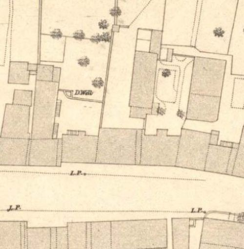 Map of 1853 showing the location of the Ladywell Brewery
