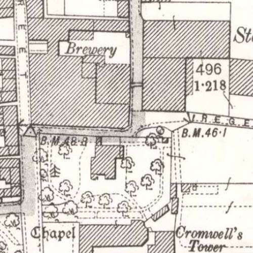 Map of 1899 showing the Aulton Brewery