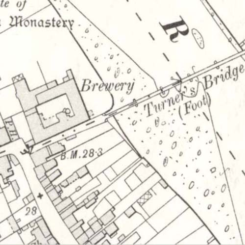 Map of 1908 showing the Ayr Brewery