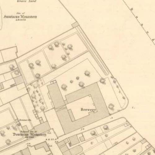 Map of 1855 showing the Ayr Brewery