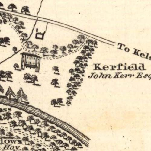 Map of 1823 showing the Kerfield Brewery