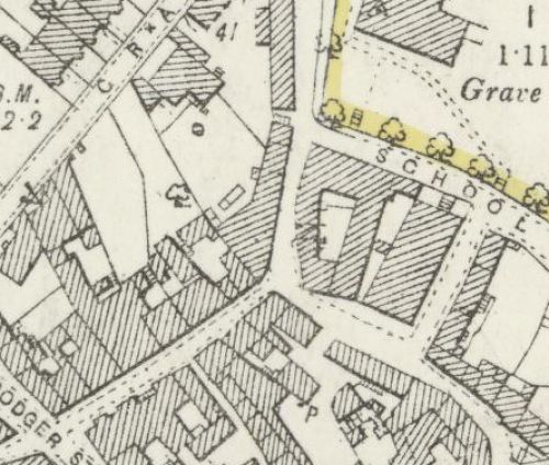Map of 1893 showing the layout of the Anstruther Brewery