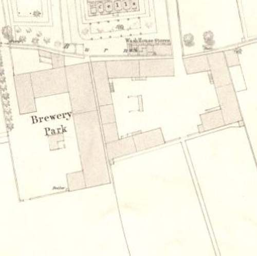 Map of 1853 showing the layout of Brewery Park